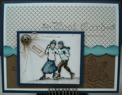 stampin up winter post watercoloring