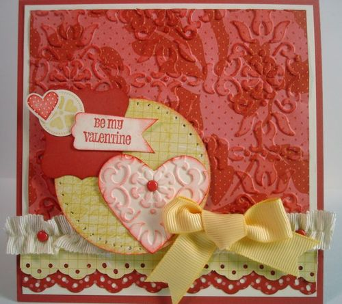 Feminine, One of a Kind, Hand-Made Valentine