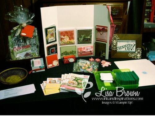 Lisa Brown, Stampin' Up! Demonstrator Craft Display