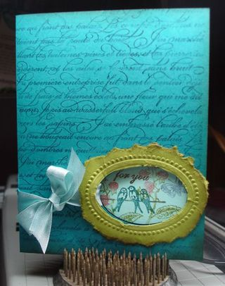 Stampin' Up! Card Idea-Designer Frames Clearly for You