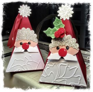 Stampin' Up! Christmas Idea Tutorial Petal Cone Santa