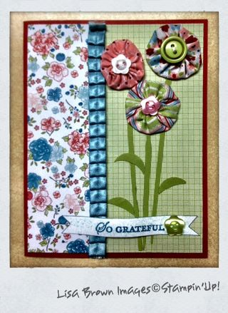 Stampin up card idea twitterpated fabric
