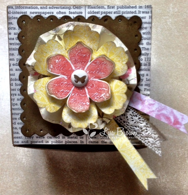 Stampin up gift box designer rosette die
