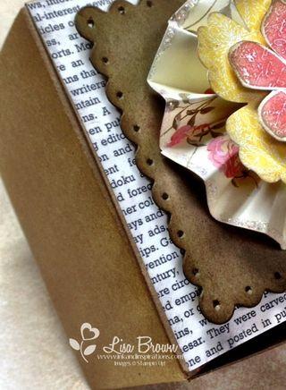 Stampin up kraft gift box attic boutique