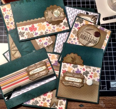 Stampin up masculine cards time savers