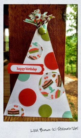 Stampin up sweet shop birthday hat card