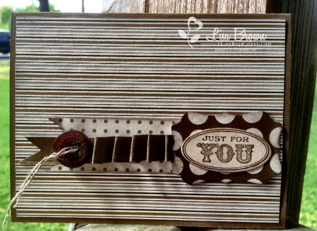 Stampin up faux ribbon masculine card