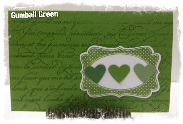 Stampin up 2012 2014 In Colors Gumball Green