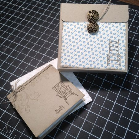 Stampin up have a seat 3 x 3 box
