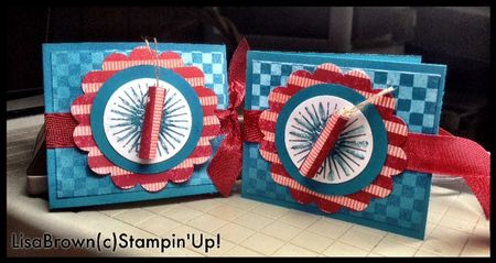 Stampin up blue ribbon fourth of july treat idea