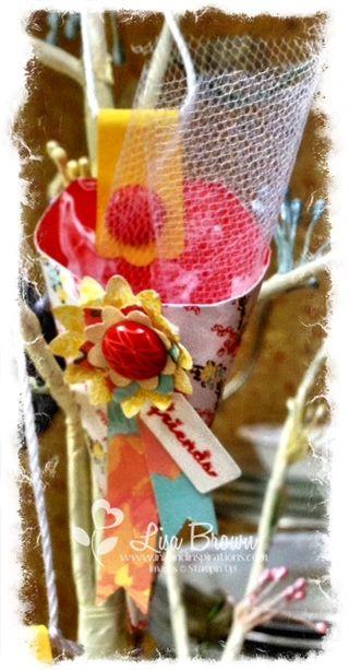 Attic boutique treat cone diy wedding favor