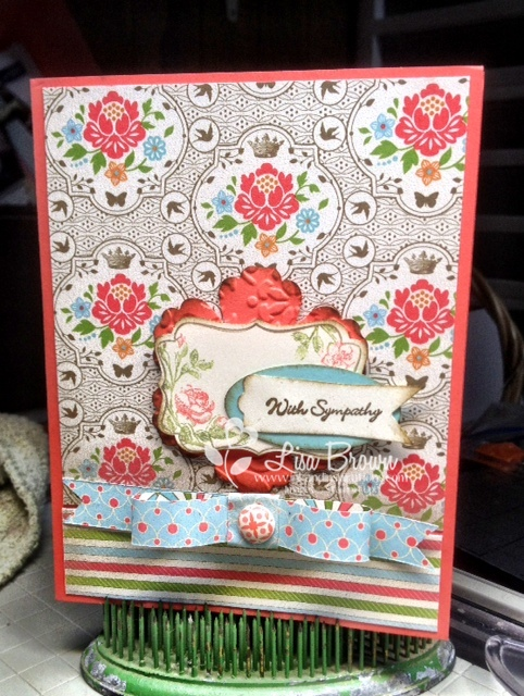 Paper bow card idea stampin up everyday enchantment