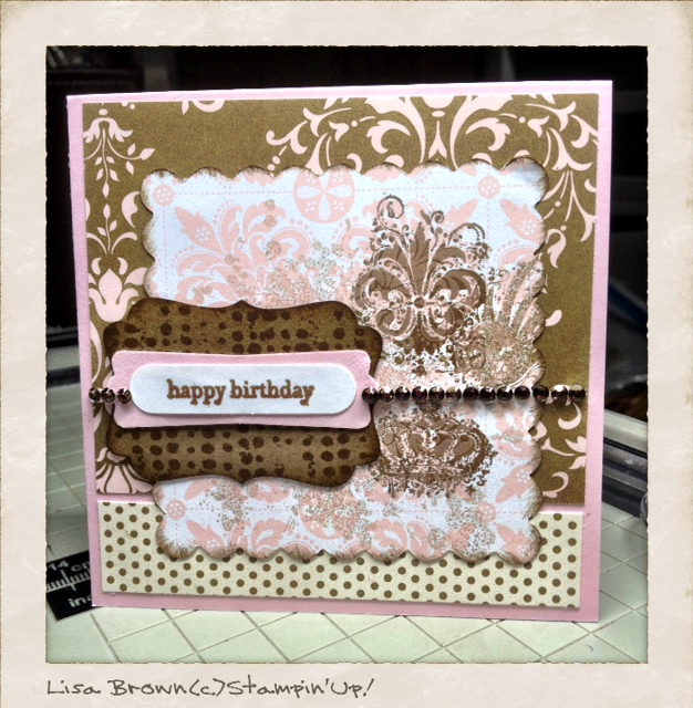 Stampin up extreme elements beau chateau