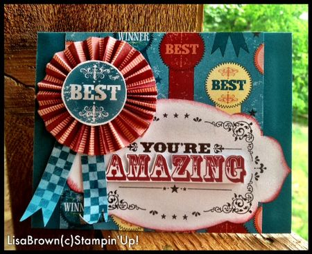 Stampin up you're amazing world spectacular card idea