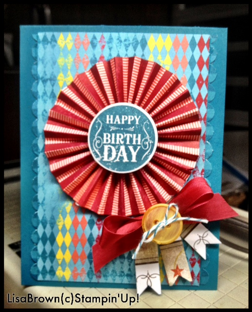 Stampin Up Spectacular Birthday Card Idea And Customer Rewards