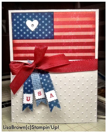 Stampin up fourth of july card idea video tutorial
