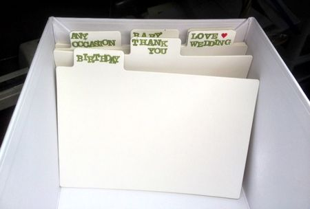 Stampin up card keeper box fabric inside