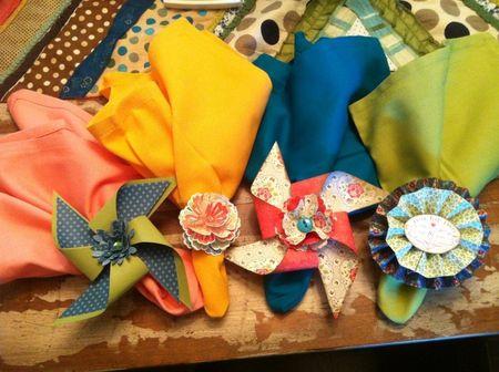 Stampin up designer paper napkin rings