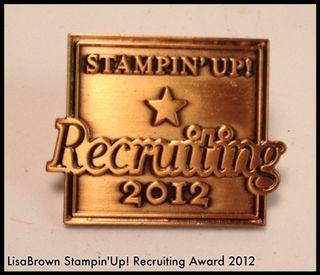 Stampin up demonstrator award