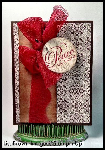 Stampin up christmas card vintage greetings of the season candlelight christmas