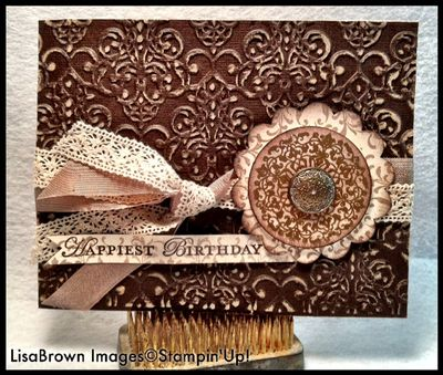 Stampin up lacy brocade core'dinations birthday