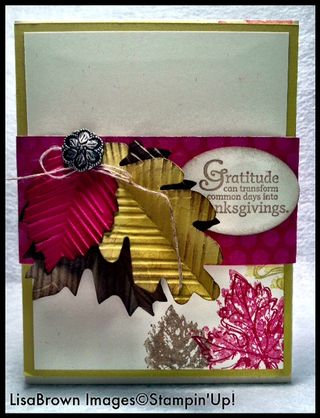 Stampin up thanksgiving gently falling hostess gift