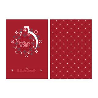 Ornamental Christmas Postcard Template132794L