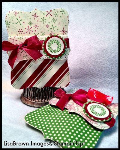 stampin up jolly bingo bits top note christmas