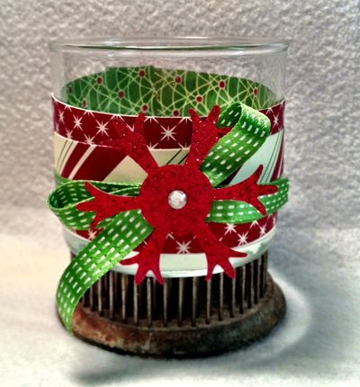 stampin up christmas candle be of good cheer