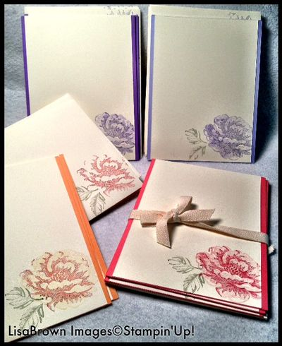 Gift sets stippled blossoms stampin up