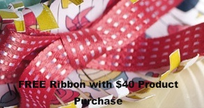 Stitched satin ribbon- Free with $0 product purchase