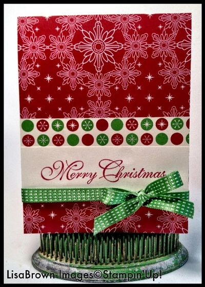 Stampin up greetings of the season christmas card idea