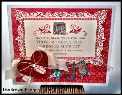 Stampin up fan fair banner thank you card
