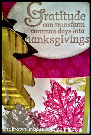 Stampin up thanksgiving hostess gift