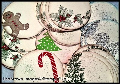 Stampin up easy christmas gift tags