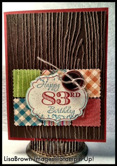 Stampin Up Masculine Birthday Card Ink And Inspirations