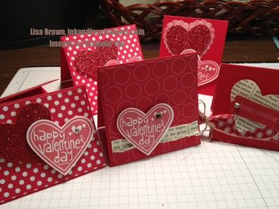 stampin up valentine mini cards