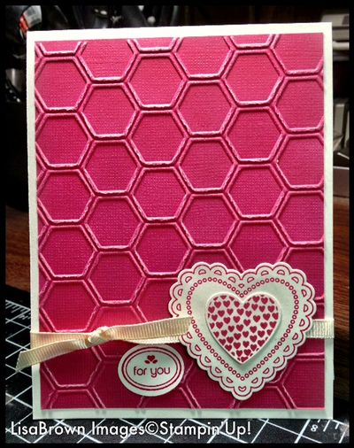 stampin up hearts a flutter honeycomb card