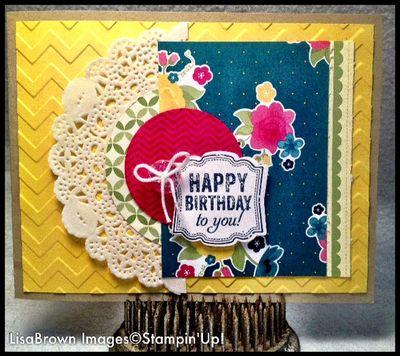 Stampin Up Label Love Birthday Card