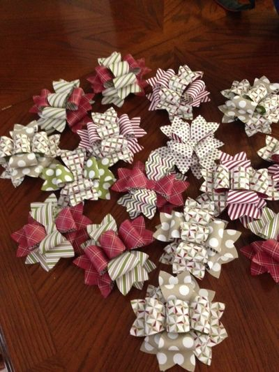 stampin up gift bow die holidays