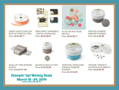 stampin up Weekly deals 3-18