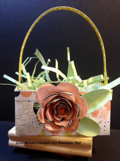 stampin up video tutorial speing basket project
