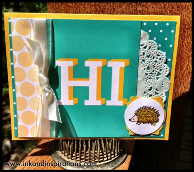 Project life by stampin up card making 2