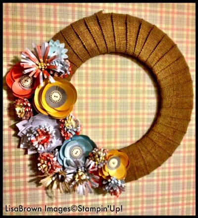 Stampin-up-burlap-blooms-wreath-kit