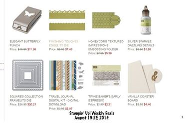 stampin up Weekly deals 8-19