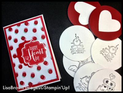 stampin up kids valentine DIY games lisa brown ink and inspirations video tutorial