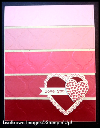 stampin up valentine card idea