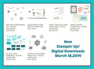 Stampin' Up! New Digital Downloads 3-18-14