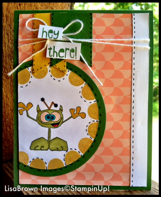 Stampin Up Birthday Card For A Special Little Boy Ink And