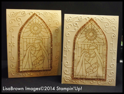 Stampin' Up! 2014 Christmas Cards Gentle Peace